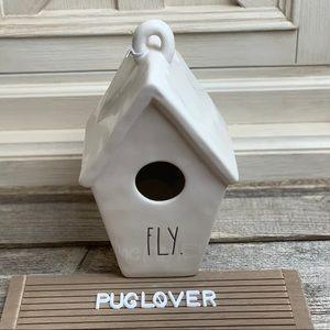 """New! RAE DUNN birdhouse """"FLY."""" HTF 🎁"""